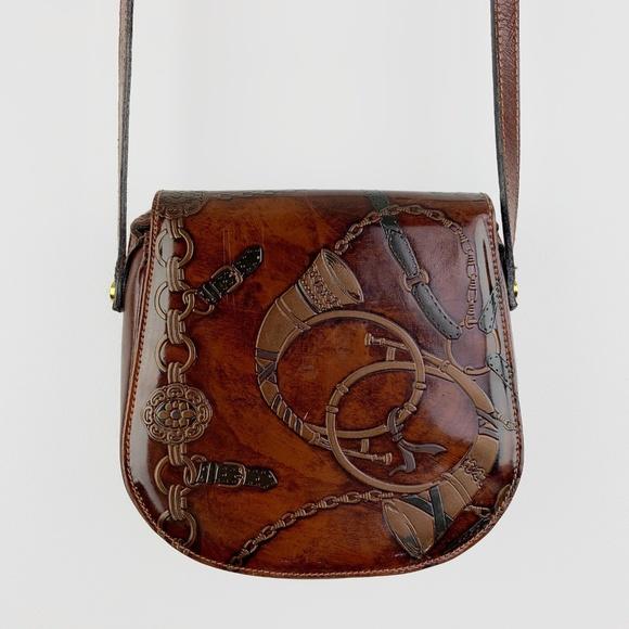 Vintage Handbags - Talja Vintage Italian Leather Equestrian Purse